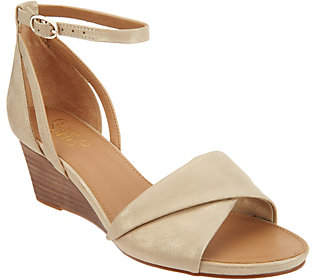 Franco Sarto Ankle Strap Wedge Sandals- Dierdra
