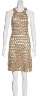 Diane von Furstenberg Metallic Crochet Dress