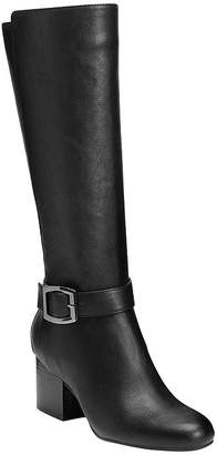 Aerosoles Womens Patience Riding Boots Block Heel