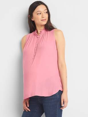 Gap Maternity sleeveless henley top