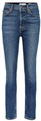 Re/Done Mid Rise Kick Flare Crop jeans