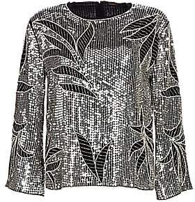 Dodo Bar Or Women's Clara Sequin Leaf Top