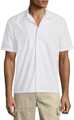 Vince Men's Poplin Short-Sleeve Cabana Shirt