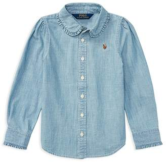 Polo Ralph Lauren Girls' Chambray Shirt - Little Kid