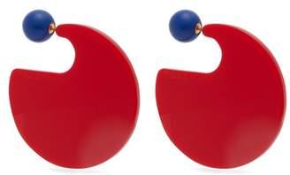 Marni Resin Hoop Earrings - Womens - Red