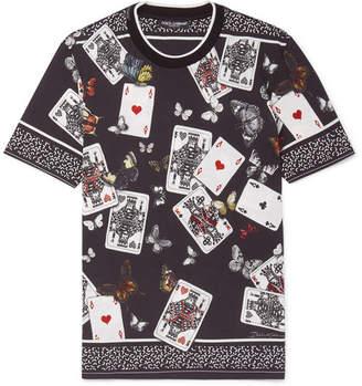 Dolce & Gabbana Printed Stretch-Cotton Jersey T-Shirt