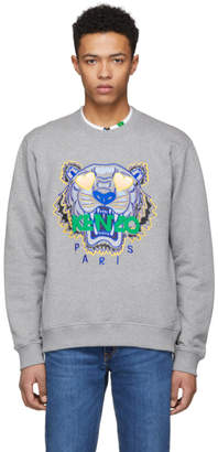 Kenzo Grey Limited Edition Classic Tiger Sweatshirt