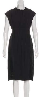 Prada Cap Sleeve Midi Dress