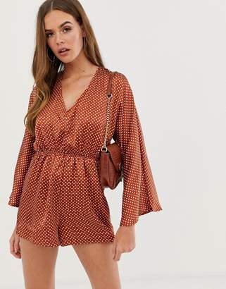 af50966bbdc In The Style Dani Dyer kimono sleeve playsuit