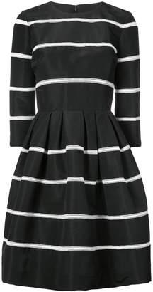 Carolina Herrera striped fit and flare dress