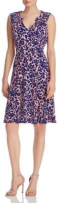 Leota Cassie Sleeveless Printed Dress $122 thestylecure.com