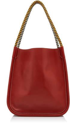 Proenza Schouler L Contrast Handle Leather Tote