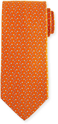 Salvatore Ferragamo Flash Desk Lamp Silk Tie, Orange