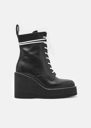 Sacai Platform Lace-Up Boots Black
