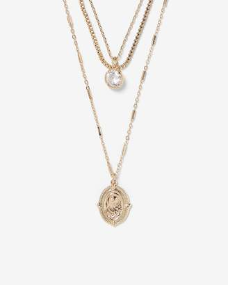 Express Nested Mary Charm Necklace