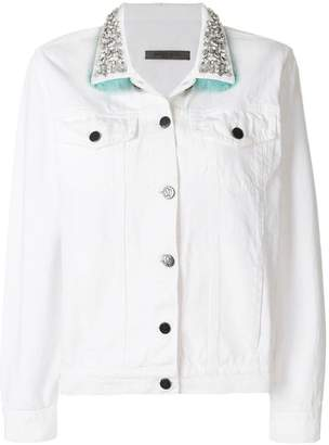 Simonetta Ravizza crystal embellished denim jacket