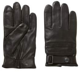 BOSS Hugo Nappa-lambskin gloves Touch Tech tips 9.5 Black
