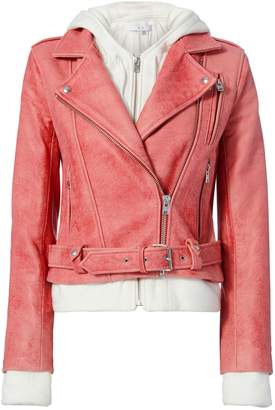 IRO Leah Combo Leather Jacket