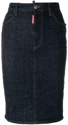 DSQUARED2 knee-length denim pencil skirt