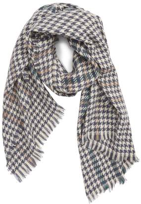 Saachi Houndstooth Plaid Oblong Scarf