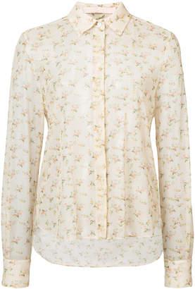 Brock Collection floral print sheer shirt