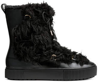 H&M Pile-lined Boots - Black