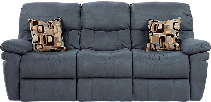 Rooms To Go Vista Ridge Indigo Power Reclining Sofa