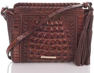 Brahmin Carrie Croc Embossed Leather Crossbody Bag