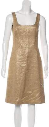 Michael Kors Silk-Blend Knee-Length Dress