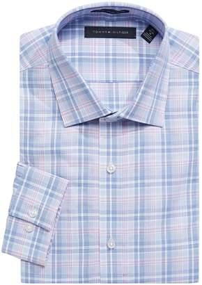 Tommy Hilfiger Plaid Slim-Fit Dress Shirt
