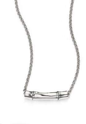 John Hardy Bamboo Sterling Silver Slider Pendant Necklace