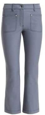Derek Lam 10 Crosby Top-Stitched Crop Flare Jeans