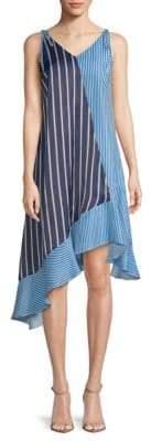 Asymmetric Striped Dress