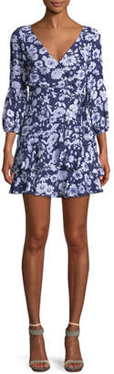 LIKELY Casimira Floral-Print Flounce Dress