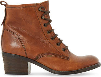 Dune Leather lace up Patsie ankle boot