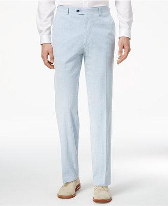 Tommy Hilfiger Men's Slim-Fit Stretch Performance Blue/White Seersucker Suit Pants $100 thestylecure.com