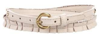 Bing Bang Leather Narrow Belt w/ Tags