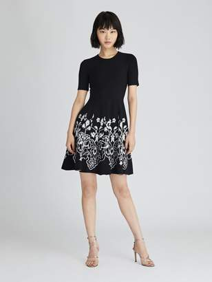 Oscar de la Renta Printed Knit Dress