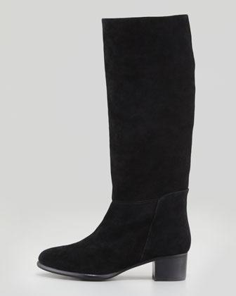 Joie Baird Suede Knee Boot, Black