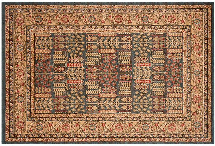 Kastas Rug - Navy/Natural - 4'x5'7