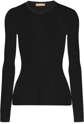 Michael Kors Collection - Ribbed Cashmere Sweater - Black $595 thestylecure.com