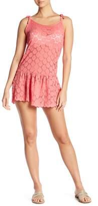 J Valdi Drop Ruffle Tie Cover-Up Dress