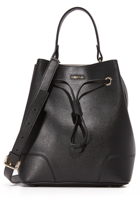 Furla Stacy Small Drawstring Bucket Bag $348 thestylecure.com