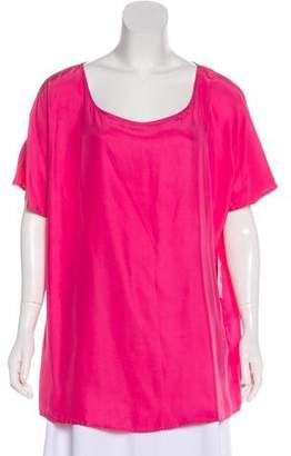 Neiman Marcus Silk Short Sleeve Top