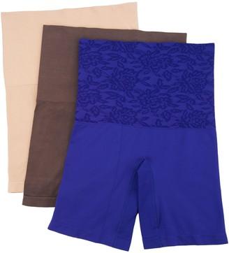 Breezies Seamless Long Leg Control Panties Set of Three