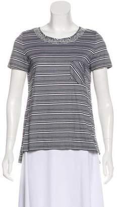 Chanel Striped Embellished Top