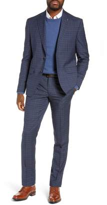 Ted Baker Roger Slim Fit Plaid Wool Suit