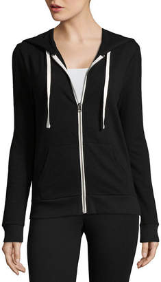Flirtitude Long Sleeve Zip Up Hoodie - Juniors