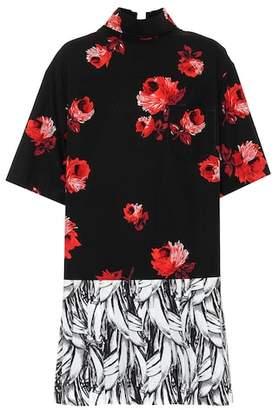 Prada Printed cotton shirt dress