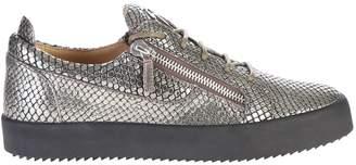 Giuseppe Zanotti Grey Zipped Sneakers